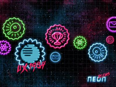 UX 1984 - Neon Icons