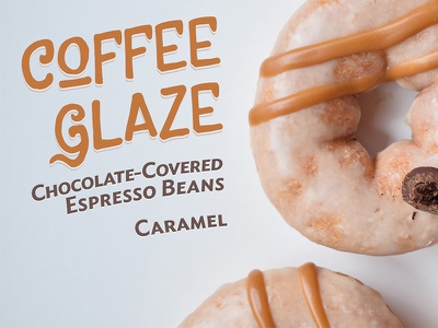 Coffee Glaze digital display donuts