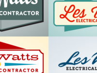 Les Watts logo color ideas