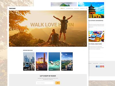 Travelmag explore website webpage webdesign web traveling layout magazine ux ui blog travel