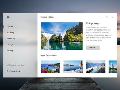 Booking - Fluent Design windows design layout travel ux ui design microsoft booking fluent