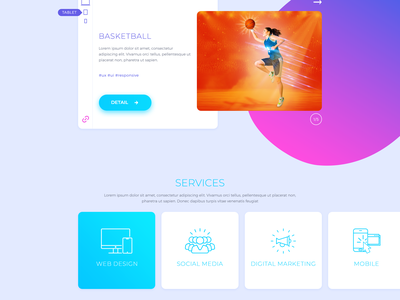 Agency colorful layout creative ui ux gradient agency
