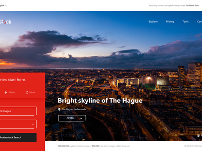 Shutterstock Redesign web design ui ux concept layout image photo shutterstock redesign