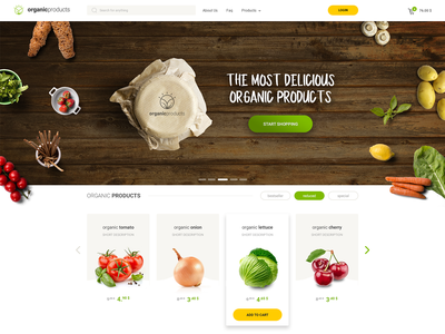 Organic Products Shopping ecommerce design responsive ux online shop design organic food ui ecommerce shop ecommerce organic