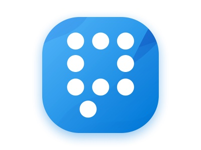 Work Comments App Icon clean blue icon app icon a day android ios app concept logo icon app