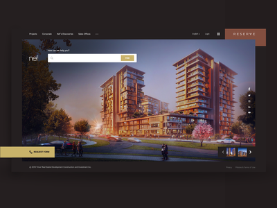 Nef - Real Estate Development responsive search form request form building building design realestate ux ui concept