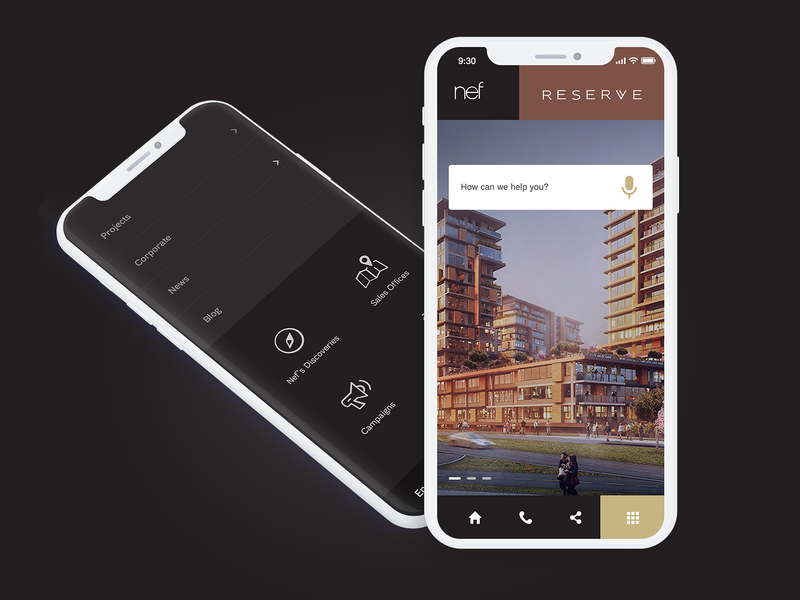 Nef Responsive Mobile Design iphone x minimal black uidesign concept app real estate concept ux ux design ui mobile app design responsive mobile