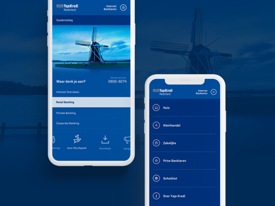YapiKredi Nederland Mobile netherlands holland mobile menu mobile menu bank mobile site banking mobile responsive banking ux ui