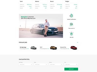 Enterprise Turkey Rent A Car minimal clean webdesign turkey ux design ui responsive auto rent car rent enterprise