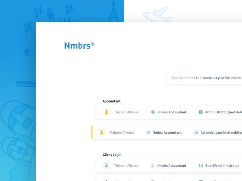 Account Picker UI user experience user interface clean ux web design ui web webapp redesign
