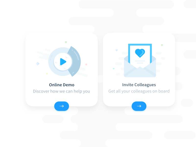 Onboarding Illustrated Icons user experience interactive web app card blues app graphicdesign clean illustration ux user interface design ui