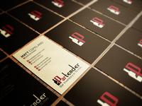 Partender Business Card