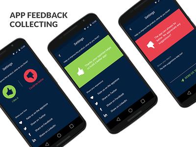 Quick app feedback collection ui ux design mobile feedback