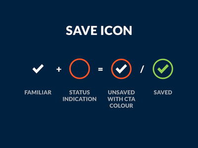 My take on the save Icon save icon icon ui interaction suggestion