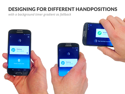 Designing for different hand positions hand positions ui timer payment access app ux mobile