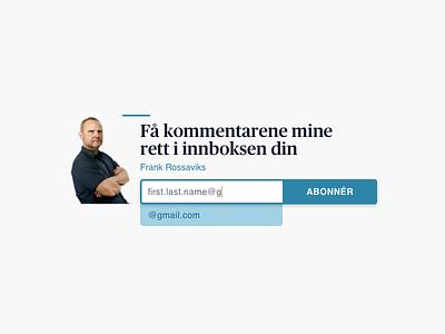 Newsletter Signup Widget signup widget newsletter
