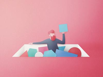 Make the choice vector photoshop digitalpainting artwork paper papercut illustration