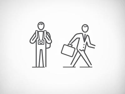 Traveler Personas icons design personas vector icon travelers icons illustration