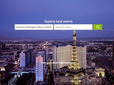 ExplorEvents Web App UI Design app flat web ui design