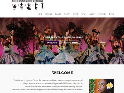 Mahea Uchiyama Center for International Dance site wordpress migration design flat
