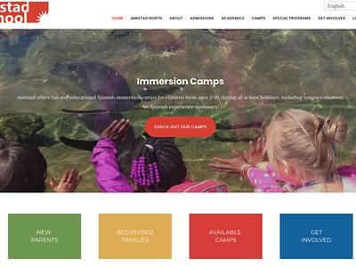 Seattle Amistad Schol - UI/UX Redesign design web wordpress ux ui