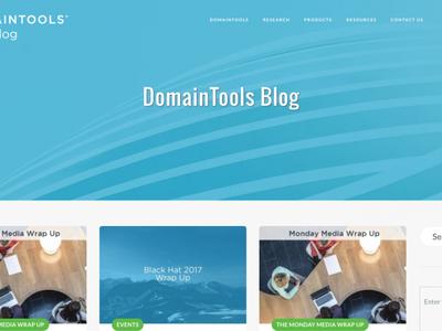 Domaintools Blog wordpress design