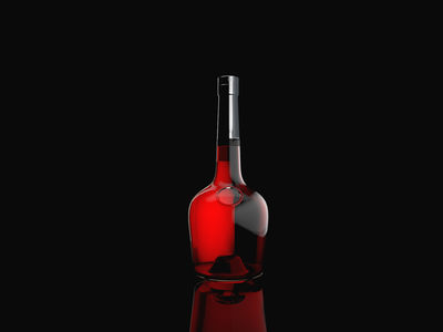 3D Bottle (Cinema 4D file included)