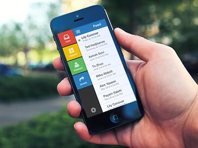 Mobile App Sidebar ui user interface design ios mobile sidebar