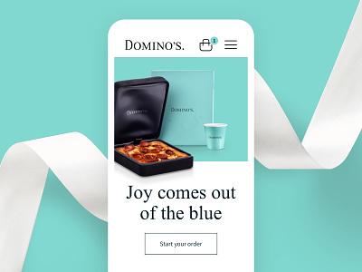 Dominos X Tiffany & Co. web homepage app brand ui type logo concept identity branding