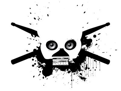 Funky Machine logo vector illustration