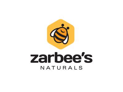 Zarbees Logo bee logo branding identity