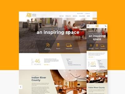 ABI Web branding ui design homepage website