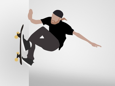 Wallride Illustration skateboarding vector illustration