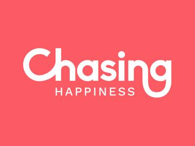 Chasing Happiness Logo typography design brand type concept logo identity branding