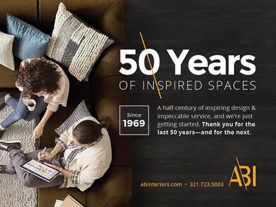 ABI Print Ad type print ad advertisement concept logo identity branding