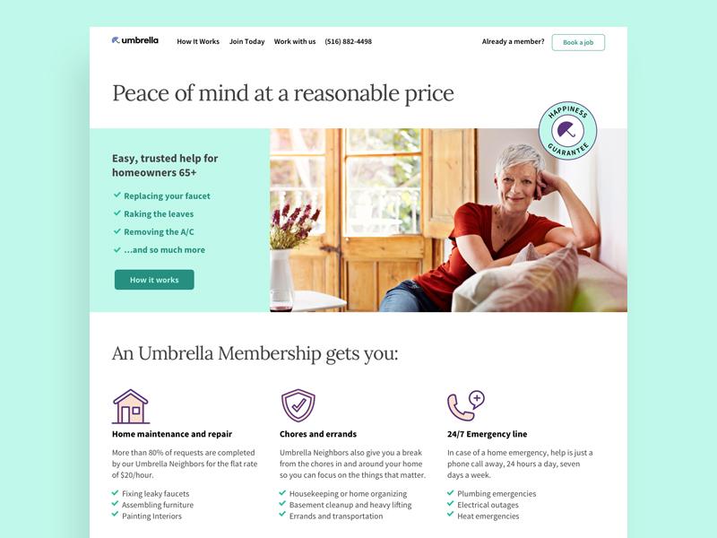 Umbrella web design website web homepage design brand ui type identity branding