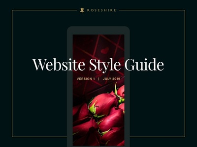 Roseshire Style Guide style guide clean styleguide