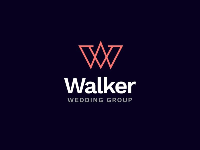 Walker Logo vector typography concept design brand type logo identity branding