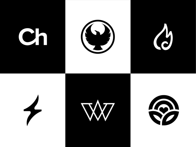 Marks of 2019 visual vector typography design brand concept type logo identity branding