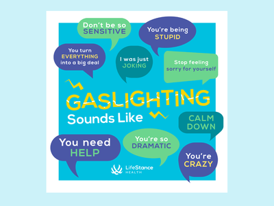 LifeStance Health Instagram Post - Gaslighting corporate instagram corporate social social design mental health mental health awareness mental health design social media post social media design illustrator illustration adobe illustrator social media gaslighting