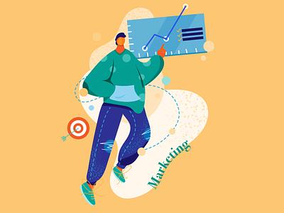 Career Path Illustration Series - Marketing career career series marketing series adobe illustrator cc digital design design illustrator illustration adobe illustrator