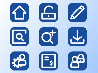 Some icons for managment app