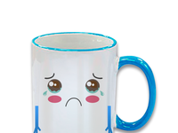 Sad cup advertising pet