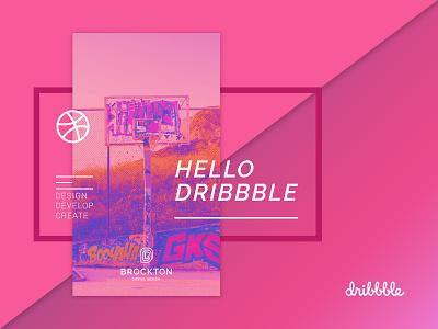 Brockton Digital Design Debut digital brockton pink branding ui design debutshot