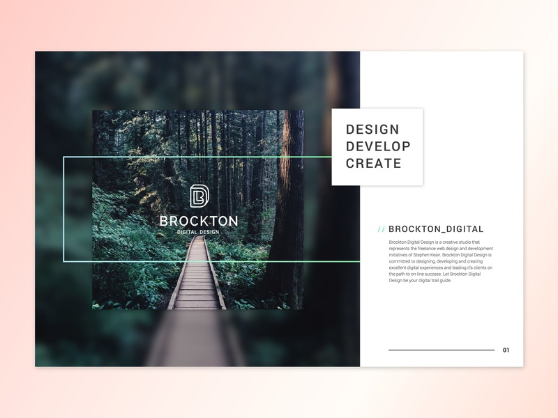 Brockton Digital Design - Brand Book workinprogress brandbook branding digital brockton