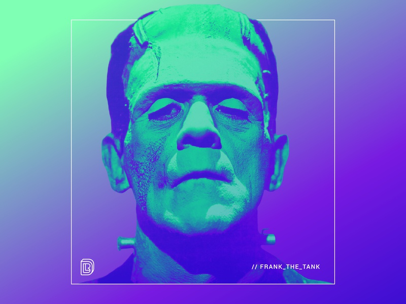 Frank The Tank brockton digital design gradients branding graphic design frank the tank frankenstein halloween