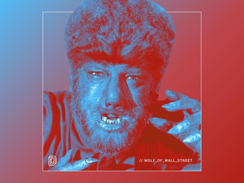 Wolf of Wall Street werewolf wolfman wolf of wall street halloween branding digital brockton