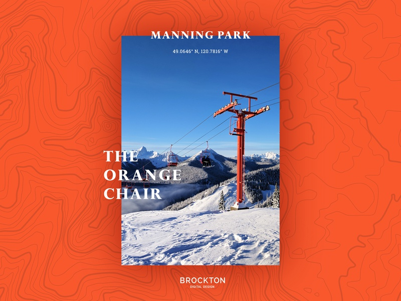 The Orange Chair - Manning Park 1970 chairlifts manning park branding design graphic  design design branding digital brockton