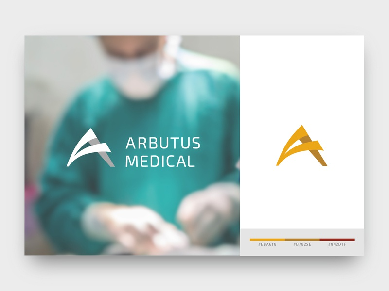 Arbutus Medical - Identity Design first project graphic  design branding design design digital brockton triangular engineering medical arbutus identity branding logo
