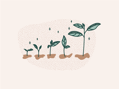 personal growth illustration evolution mentalhealth progress plants growth mental health therapy branding illustration adobe illustrator cc vector illustrator